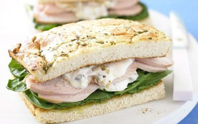 Chicken and Walnut Mayonnaise Focaccia
