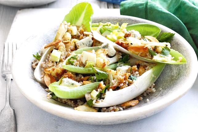 Farro, Gorgonzola and Walnut Salad