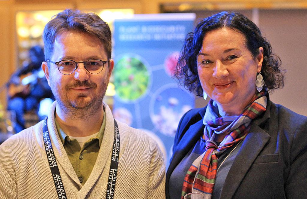 Euphresco Coordinator Mr Baldissera Giovani and PBRI Program Director Dr Jo Luck at the Plant Biosecurity Research Symposium in Brisbane in August 2019